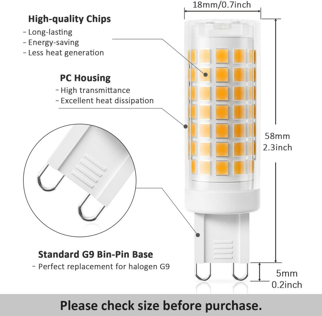 DiCUNO G9 Dimmable LED Bulb Qualities