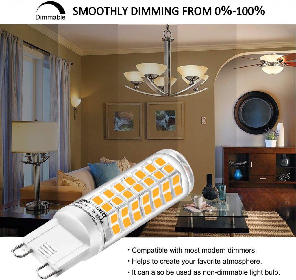 Eco.Luma G9 LED Bulb Dimmable Qualities