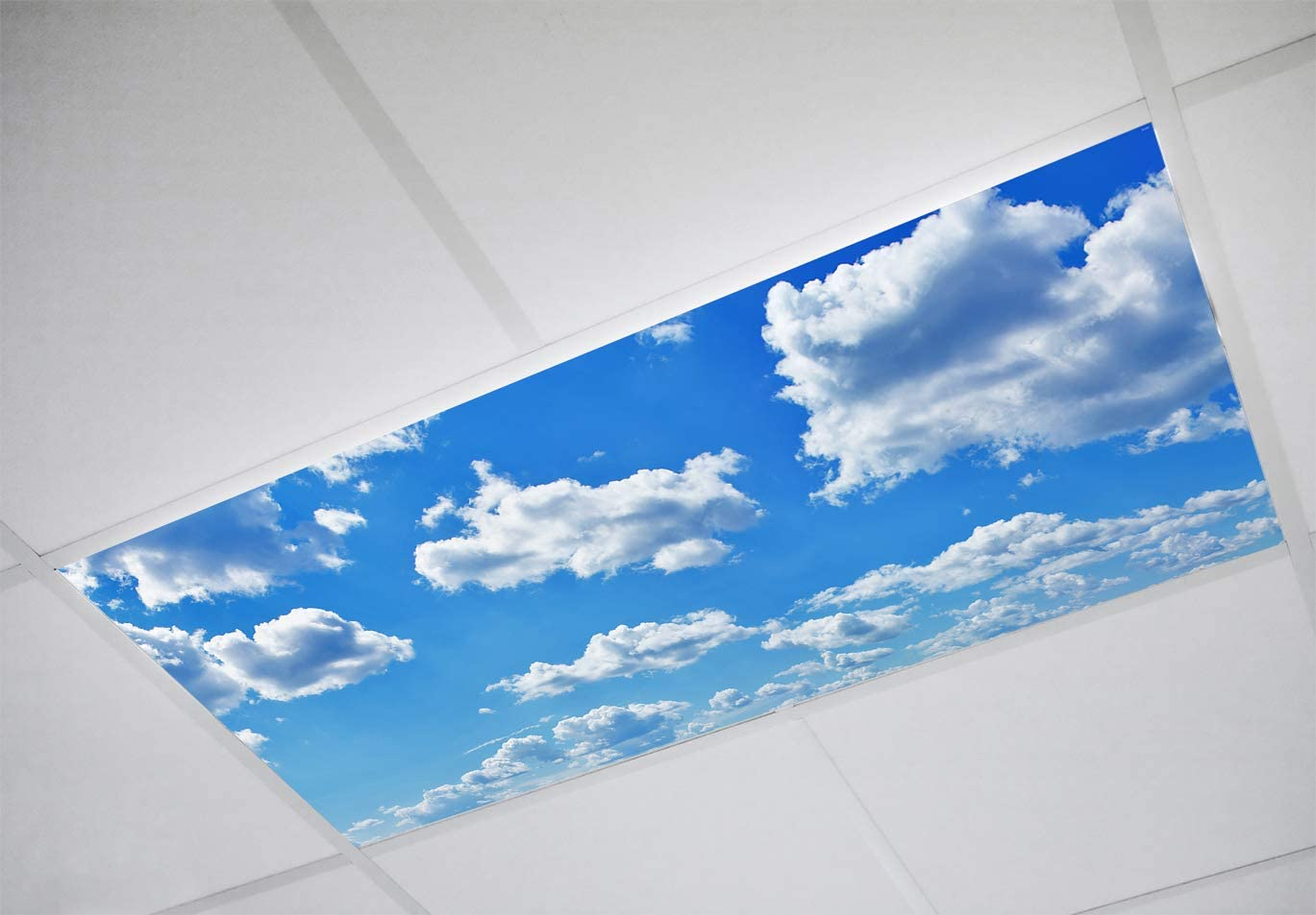 Fluorescent Light Covers - 2x4 Flexible Ceiling Light Diffuser Panels - Decorative Clouds