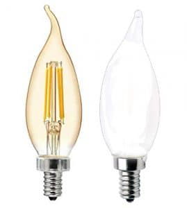 Frosted vs Clear Candle LED Bulb Review