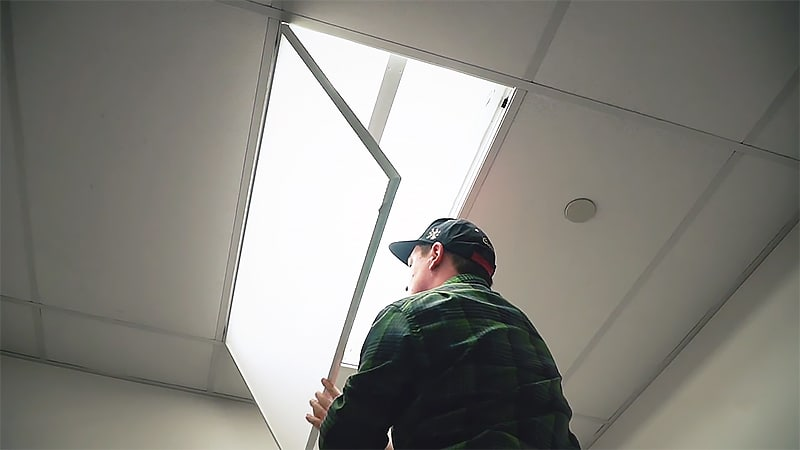 How to Hide Fluorescent Lights Hinged Covers