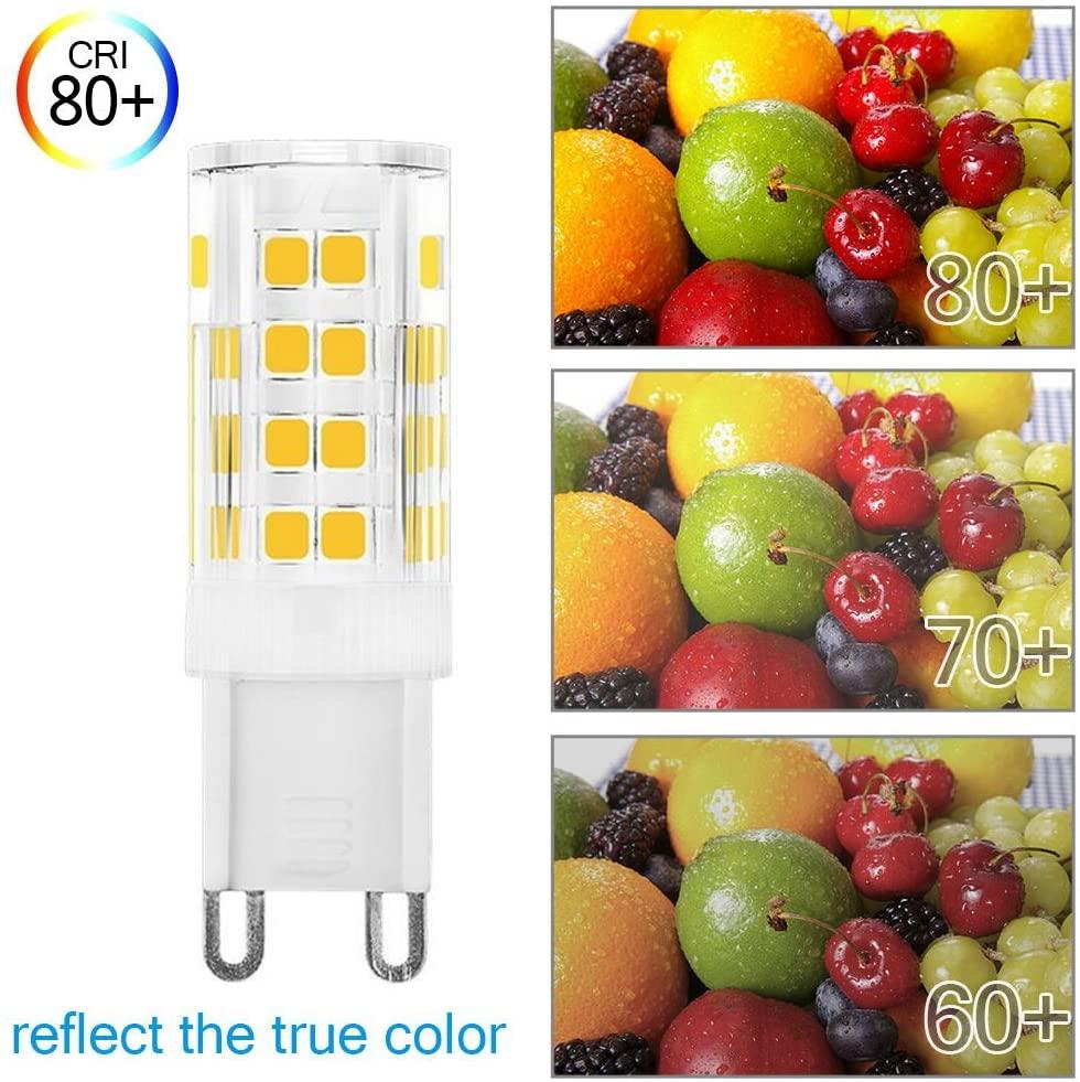 KINDEEP Dimmable G9 LED Bulb Qualities