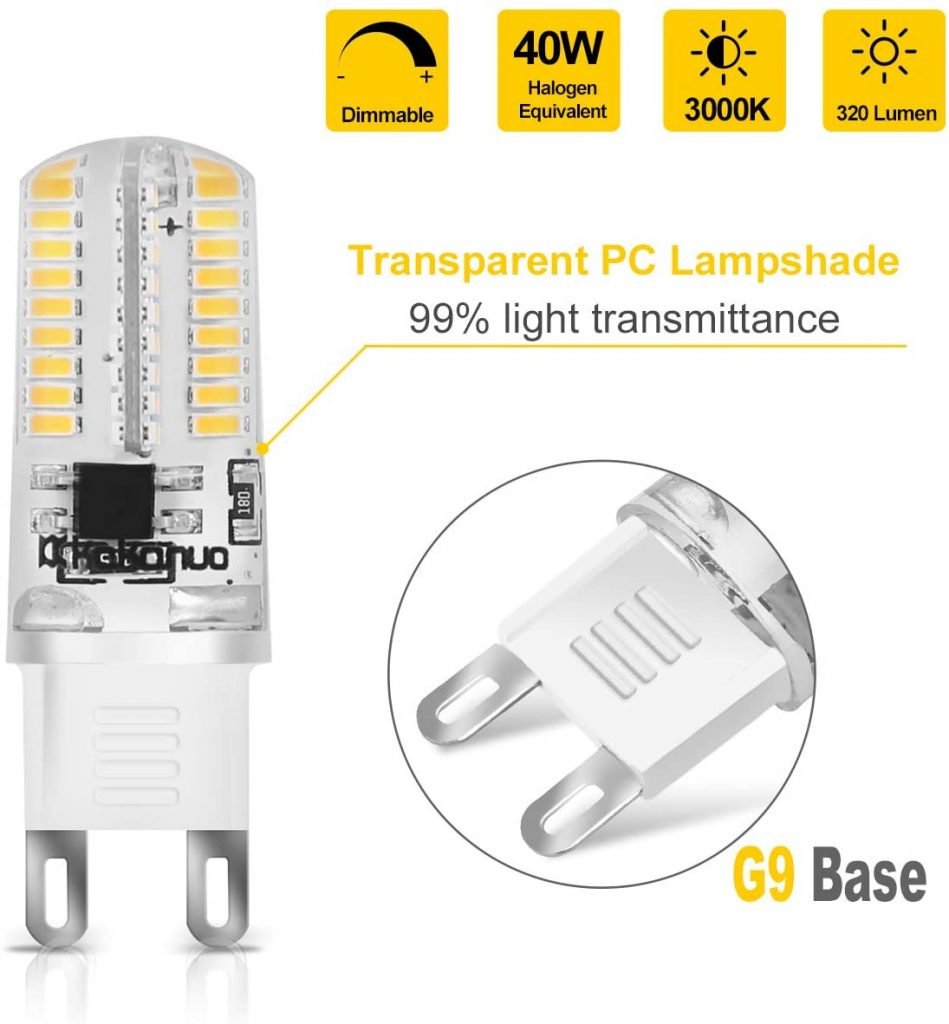 Kakanuo G9 LED Bulb Dimmable Qualities