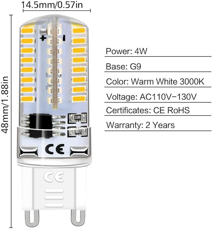 LEDERA G9 LED Light Bulb Dimmable Qualities