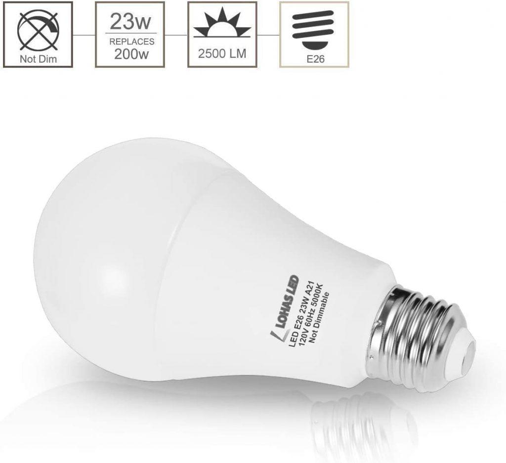 LOHAS A21 LED Light Bulb Major Qualities