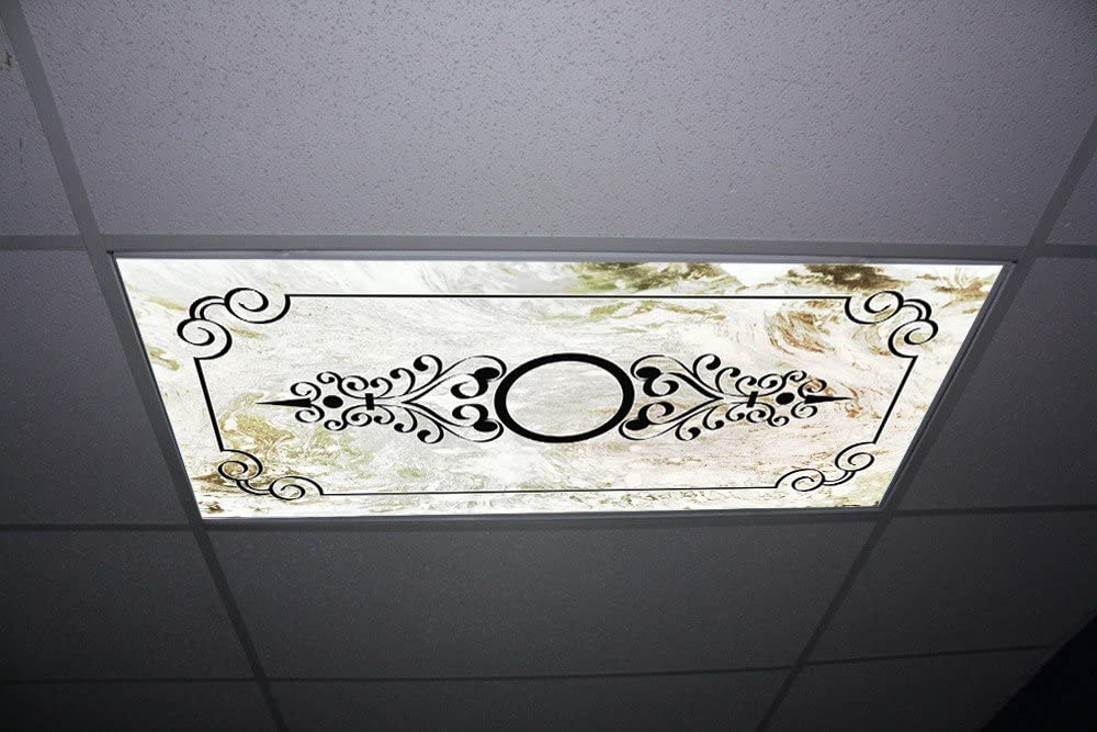Replacement Fluorescent Light Diffuser - Austere Marble Skypanels