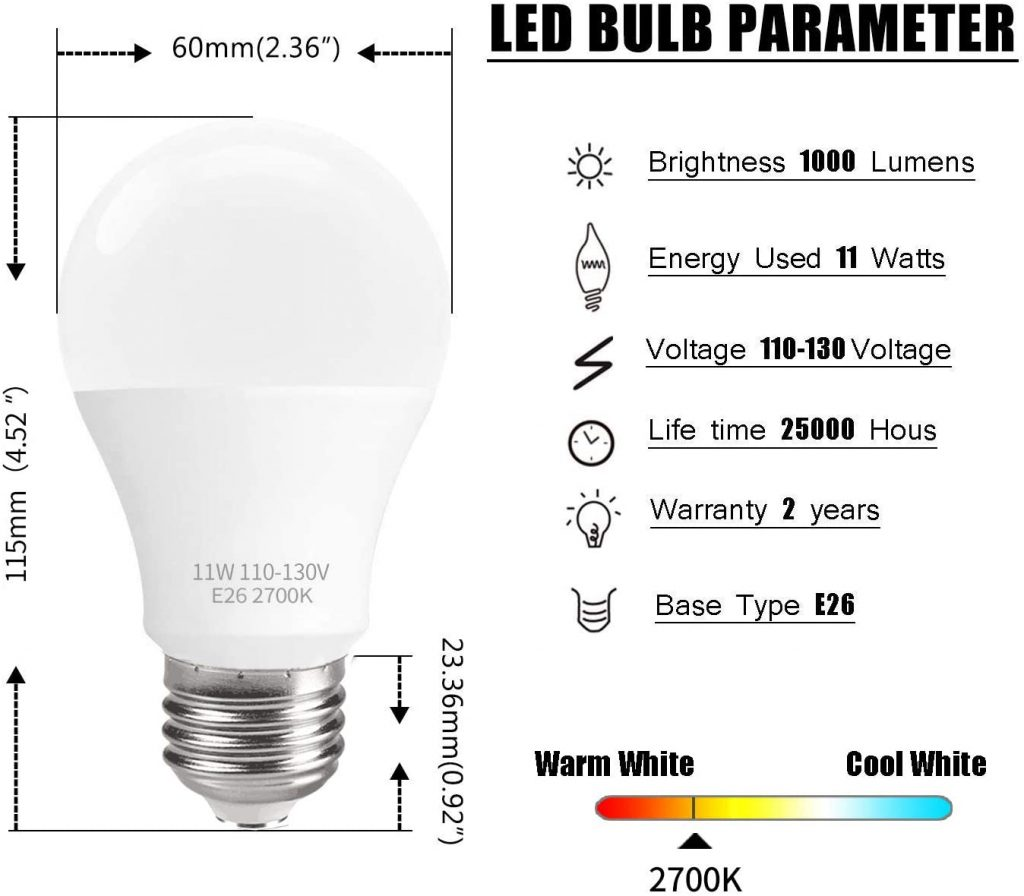 SUNMEG 6 Pack LED Light Bulbs Major Qualities