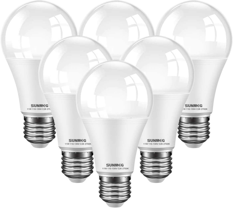 SUNMEG 6 Pack LED Light Bulbs