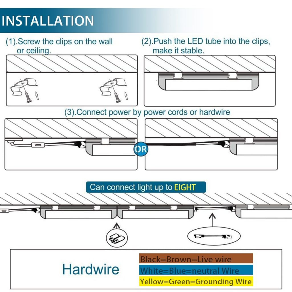 Barrina LED T5 Integrated Single Fixture Installation