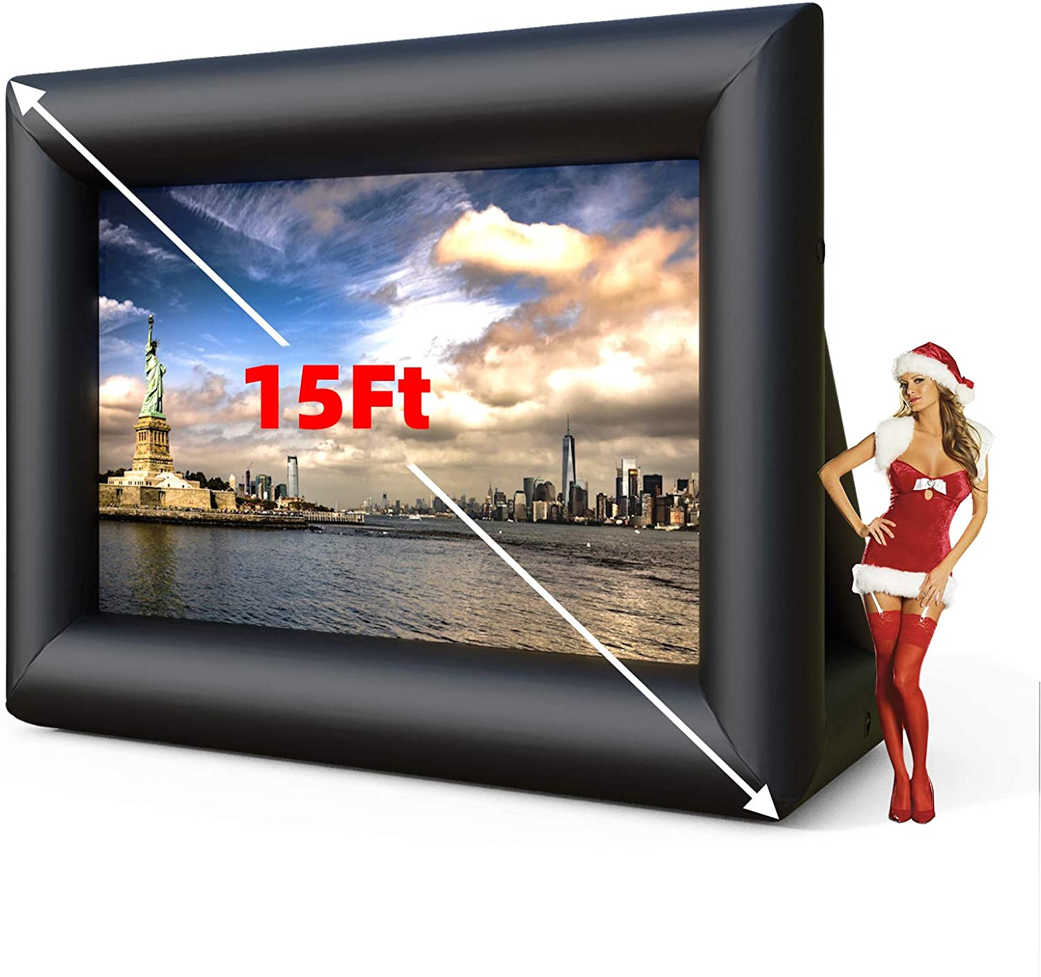 SUNCOO 15ft Inflatable Movie Screen