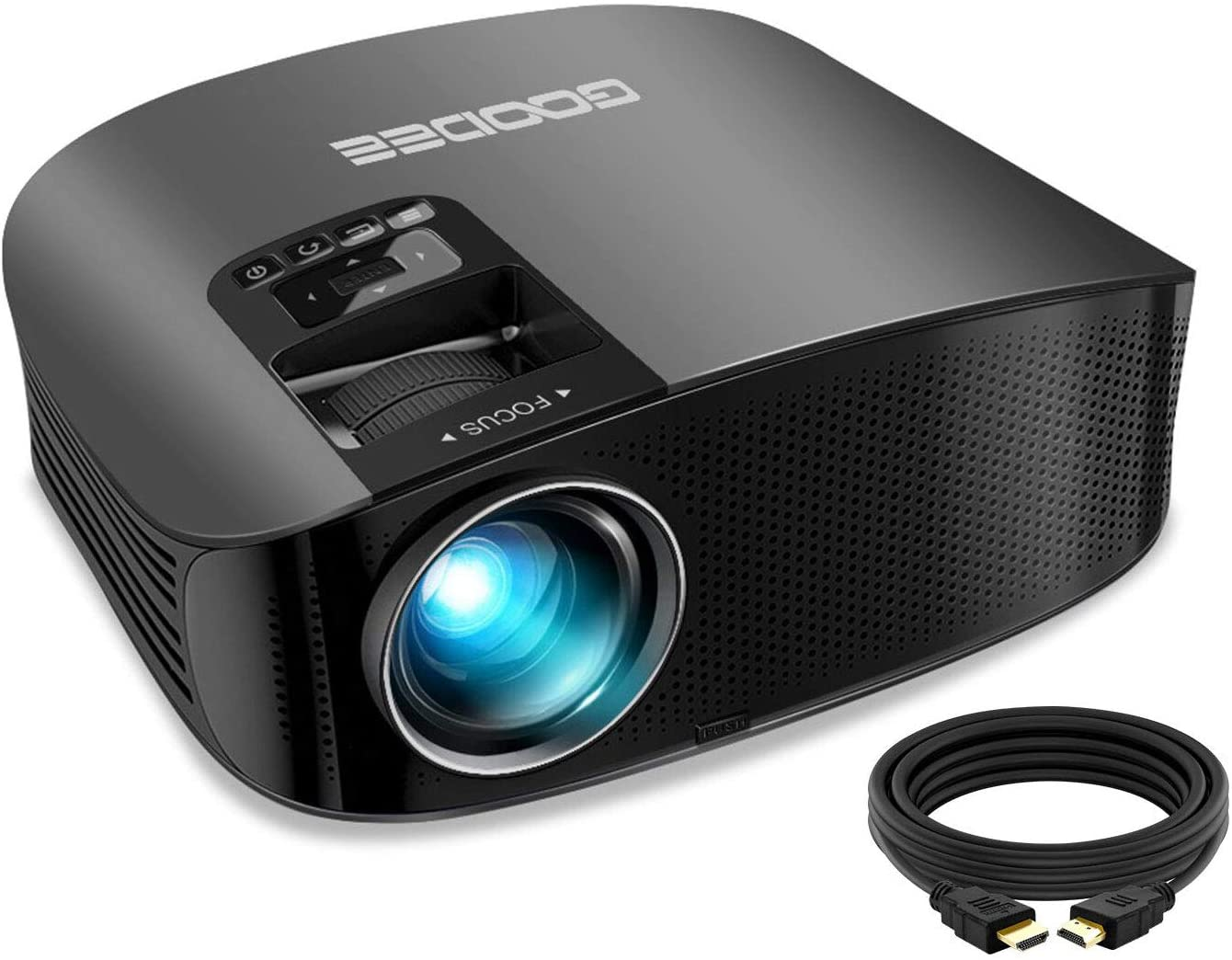 GooDee 2020 Upgrade 6000 Lux HD Video Projector