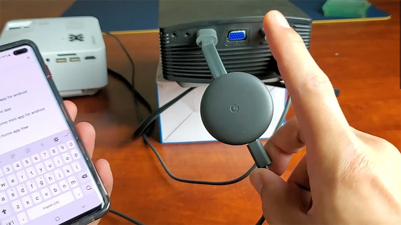 Wireless Connection an Android Phone to a Projector via Chromecast